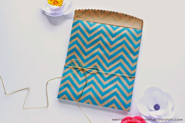 DIY Chevron Craft Bags