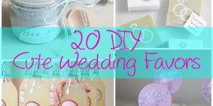20 DIY Cute Wedding Favors